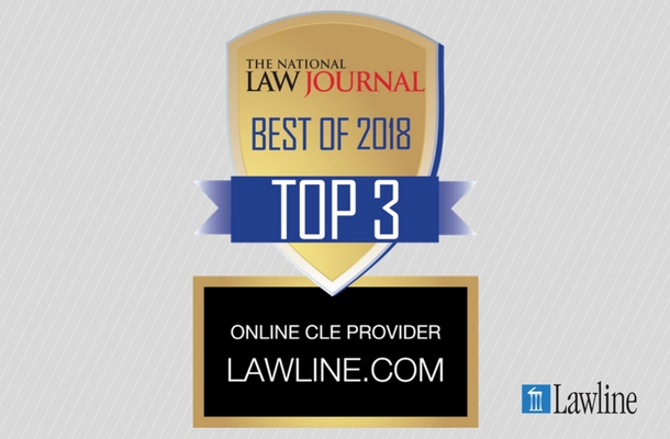 Lawline Honored to Be Recognized to Top Three Online CLE Providers by National Law Journal